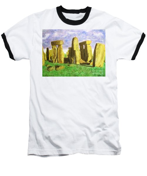 Golden Stonehenge Baseball T-Shirt