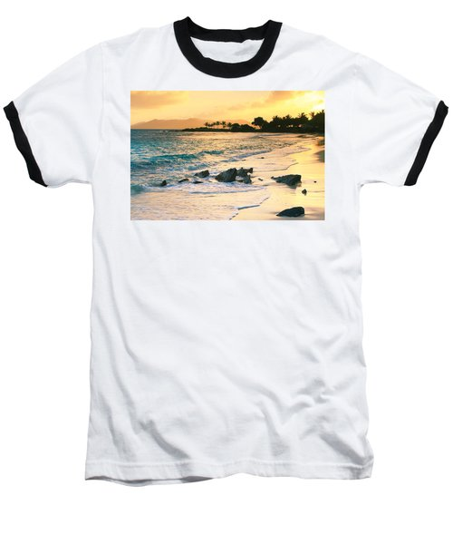 Golden Sunrise On Sapphire Beach Baseball T-Shirt