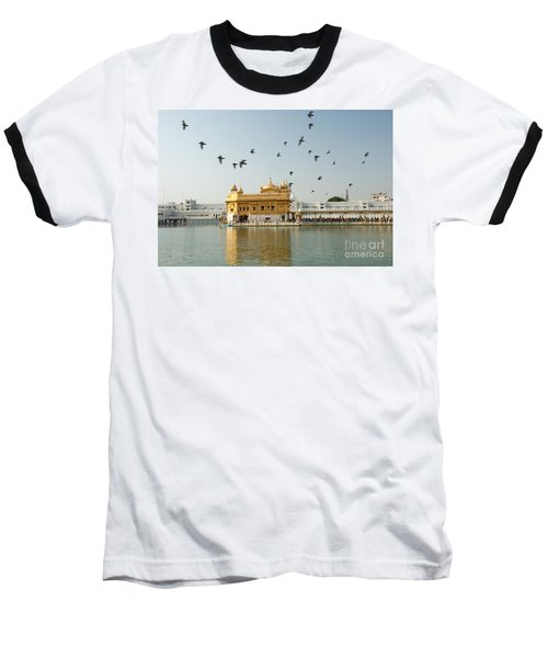 Golden Temple In Amritsar Baseball T-Shirt by Yew Kwang