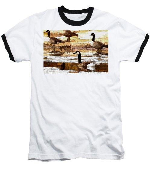 Goose Abstract Baseball T-Shirt
