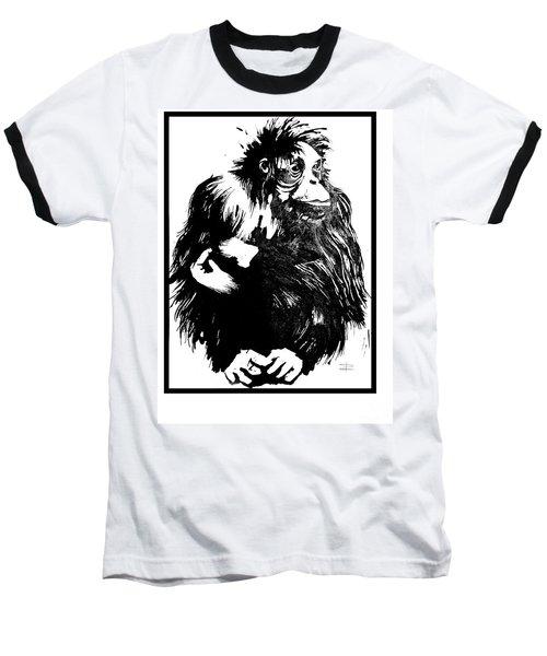 Baseball T-Shirt featuring the drawing Gorilla Ina Box by Paul Davenport
