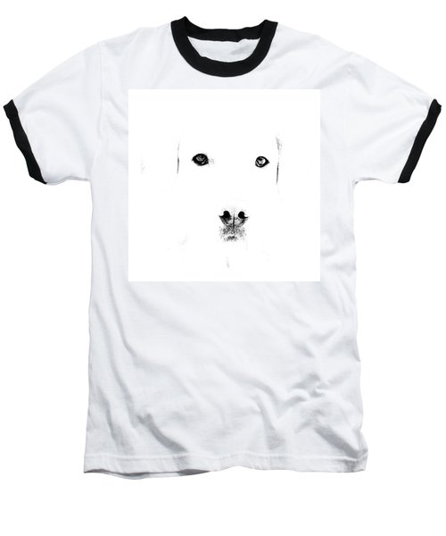 Dog Face Baseball T-Shirt
