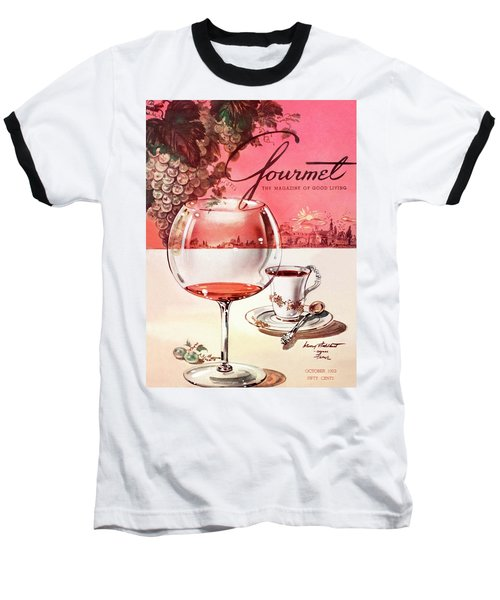 Gourmet Cover Illustration Of A Baccarat Balloon Baseball T-Shirt