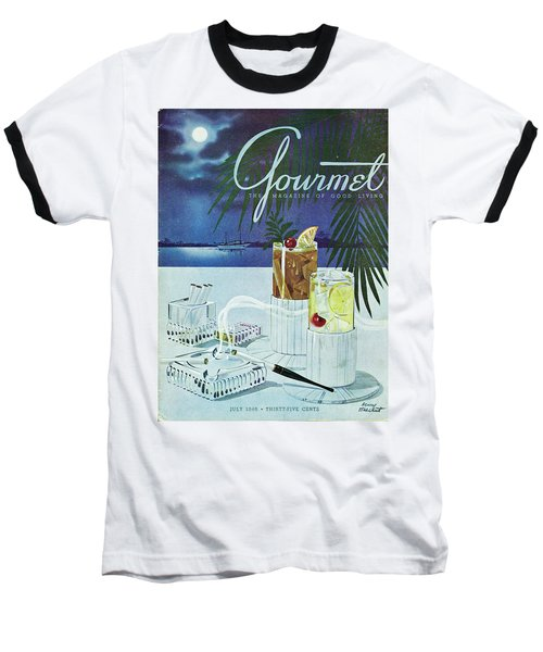 Gourmet Cover Of Cocktails Baseball T-Shirt