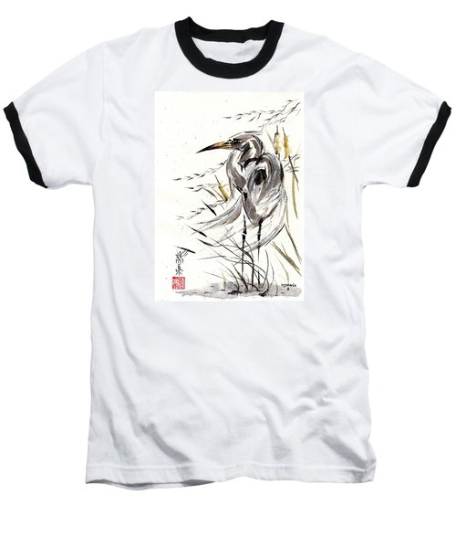 Baseball T-Shirt featuring the painting Grace Of Solitude by Bill Searle