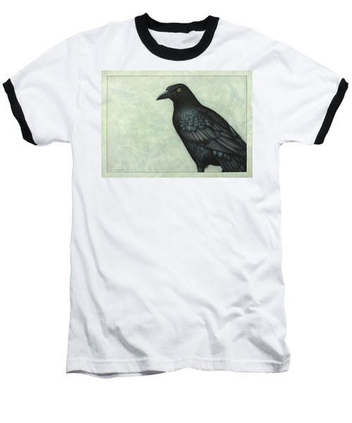 Grackle Baseball T-Shirt by James W Johnson