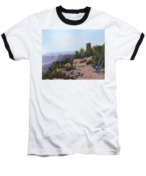 Grand Canyon Watchtower Baseball T-Shirt