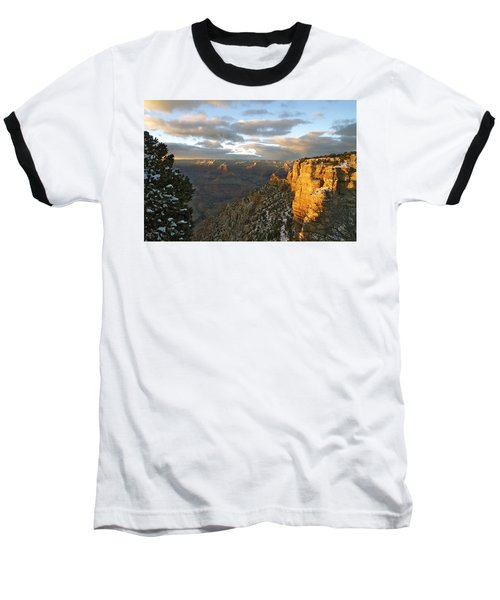 Grand Canyon. Winter Sunset Baseball T-Shirt by Ben and Raisa Gertsberg