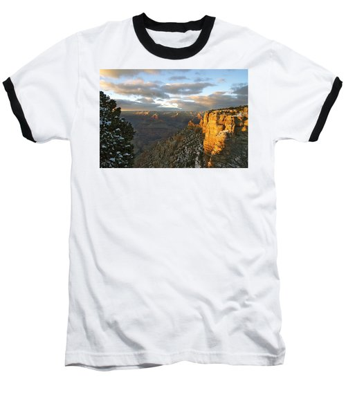 Grand Canyon. Winter Sunset Baseball T-Shirt