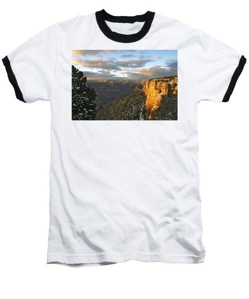 Grand Canyon. Winter Sunset Baseball T-Shirt
