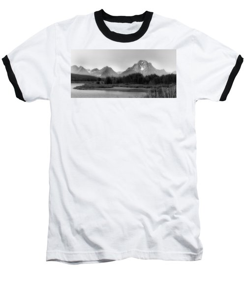 Baseball T-Shirt featuring the photograph Grand Tetons Bw by Ron White