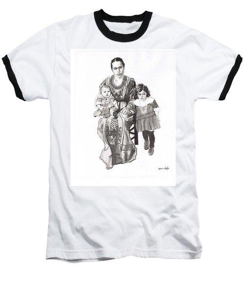 Grandma's Family Baseball T-Shirt by Sean Connolly