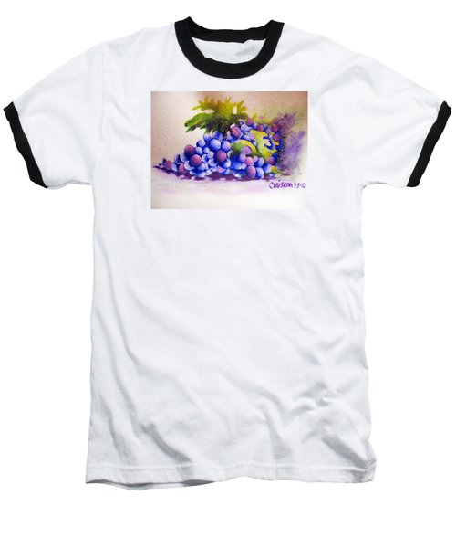 Baseball T-Shirt featuring the painting Grapes by Chrisann Ellis