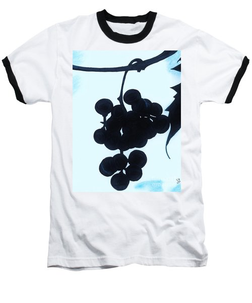 Baseball T-Shirt featuring the drawing Grapes by D Hackett
