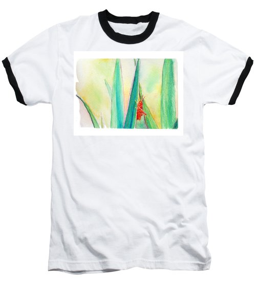 Baseball T-Shirt featuring the painting Grasshopper by C Sitton