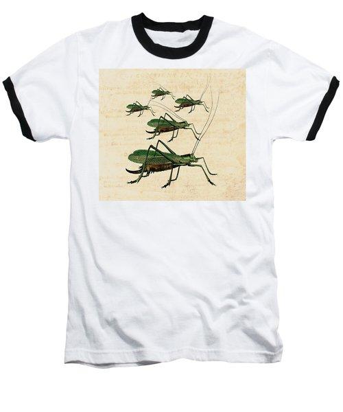 Grasshopper Parade Baseball T-Shirt by Antique Images