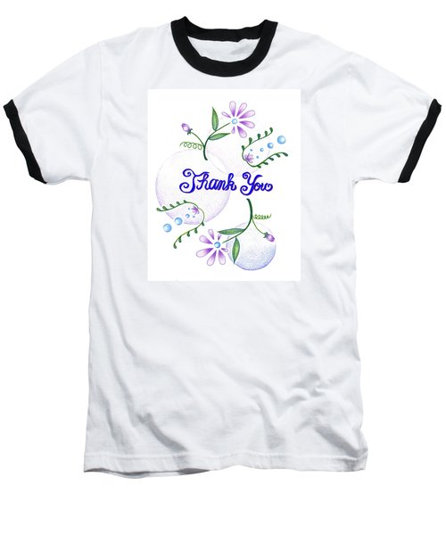 Baseball T-Shirt featuring the drawing Gratitude by Keiko Katsuta
