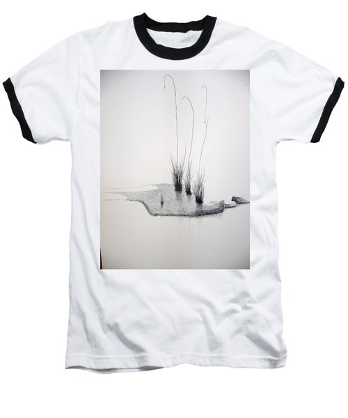 Baseball T-Shirt featuring the painting Greek Chorus by A  Robert Malcom