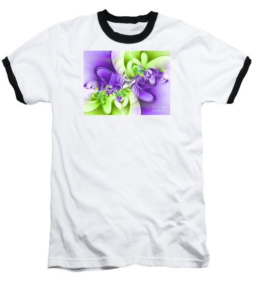 Green And Purple Baseball T-Shirt