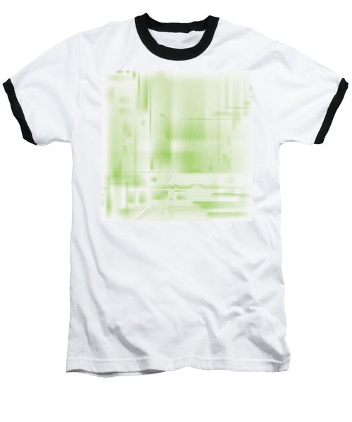 Green Ghost City Baseball T-Shirt by Kevin McLaughlin
