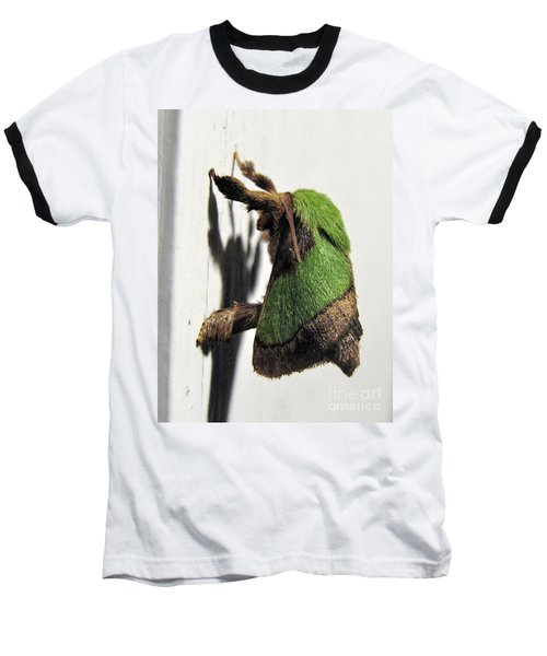 Green Hair Moth Baseball T-Shirt