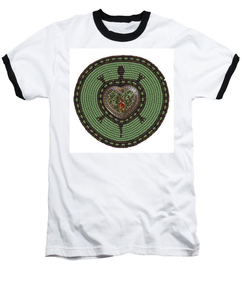 Green Heart Turtle Baseball T-Shirt
