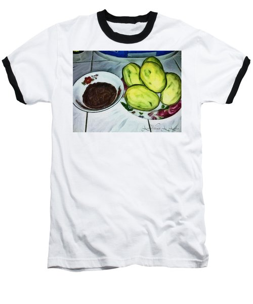Green Mangoes Baseball T-Shirt