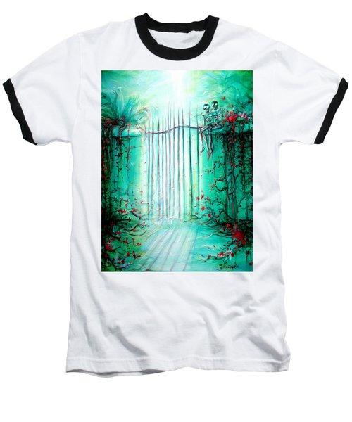 Green Skeleton Gate Baseball T-Shirt