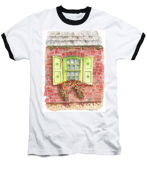 Green Window Baseball T-Shirt