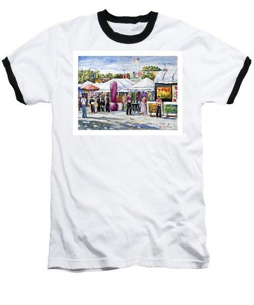 Greenwich Art Fair Baseball T-Shirt by Alexandra Maria Ethlyn Cheshire