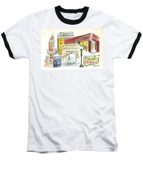 Greenwich Village Collage Baseball T-Shirt