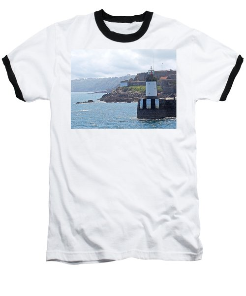 Guernsey Lighthouse Baseball T-Shirt