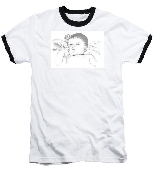 Guiding Hands Baseball T-Shirt by Patricia Hiltz