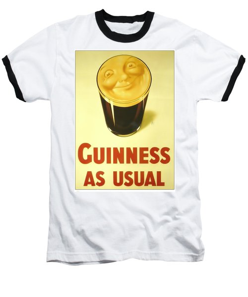 Guinness As Usual Baseball T-Shirt