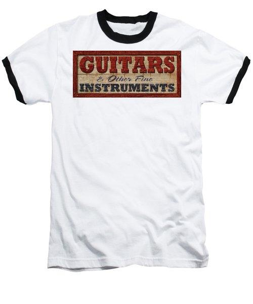 Baseball T-Shirt featuring the digital art Guitar Sign by WB Johnston