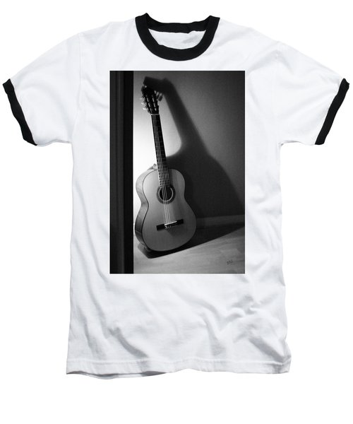 Guitar Still Life In Black And White Baseball T-Shirt