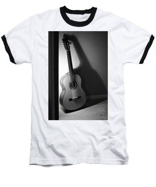 Guitar Still Life In Black And White Baseball T-Shirt