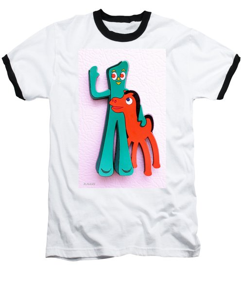 Gumby And Pokey B F F Baseball T-Shirt