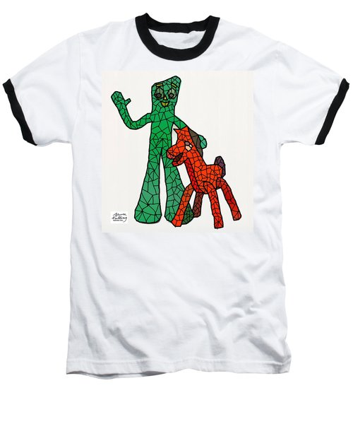 Gumby And Pokey Not For Sale Baseball T-Shirt by Bruce Nutting