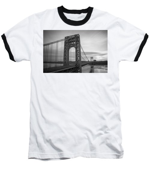 Gw Bridge Winter Sunrise Baseball T-Shirt