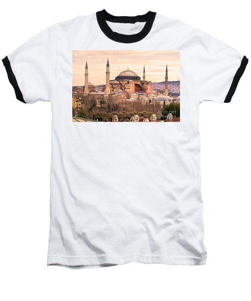 Hagia Sophia Mosque - Istanbul Baseball T-Shirt by Luciano Mortula
