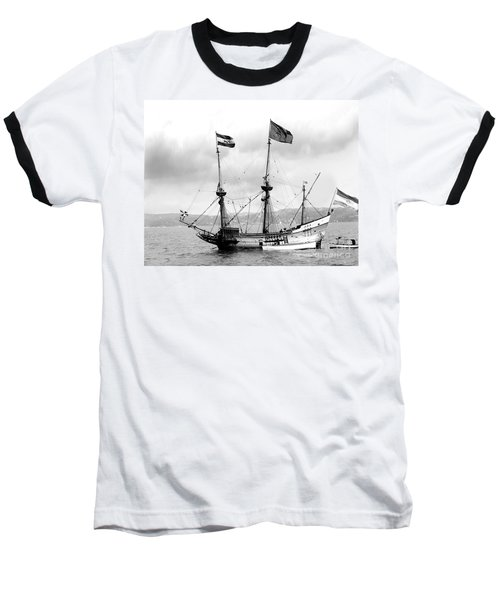 Half Moon Re-entered Hudson River After An Absence Of 300 Years In Black And White Baseball T-Shirt