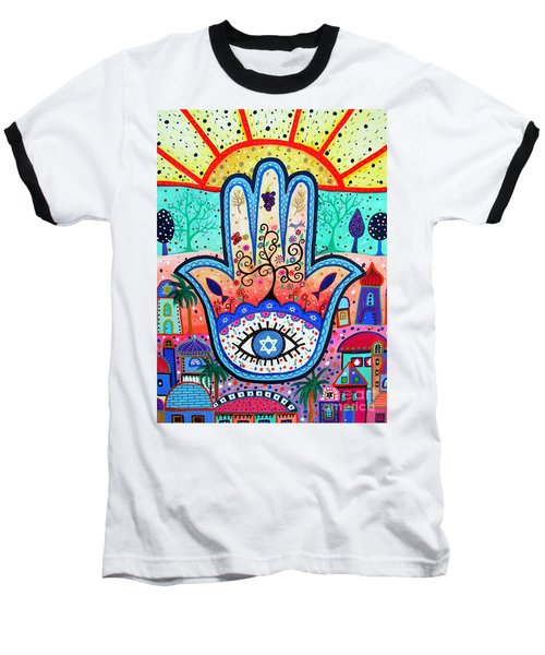Hamesh Evil Eye Baseball T-Shirt