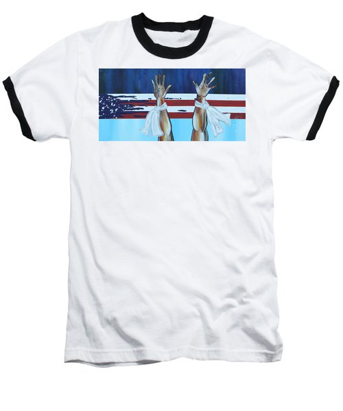 Hands Up Dont Shoot Baseball T-Shirt
