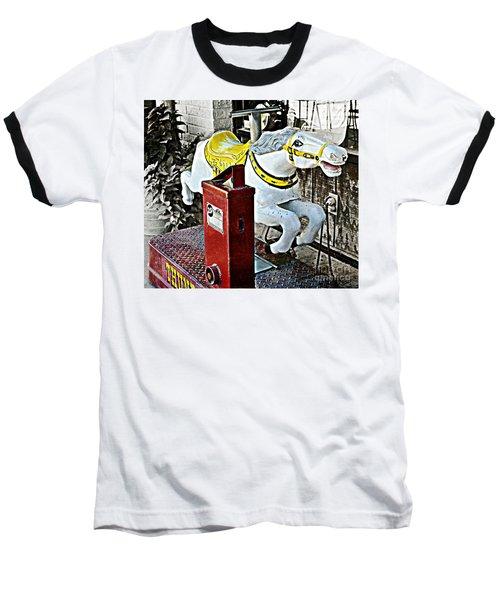 Hannibal Mechanical Riding Horse Baseball T-Shirt