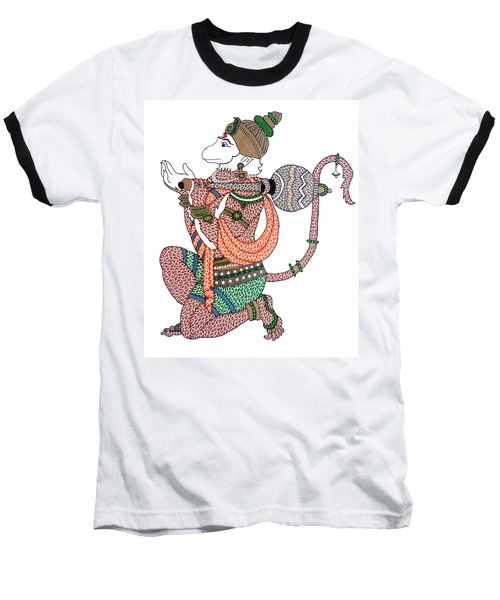 Hanuman Baseball T-Shirt by Kruti Shah