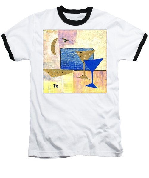 Happy Hour Baseball T-Shirt by Patricia Cleasby