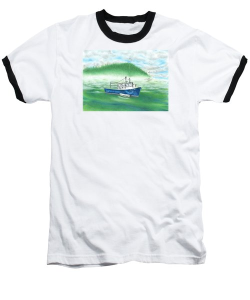 Baseball T-Shirt featuring the drawing Harbor by Troy Levesque