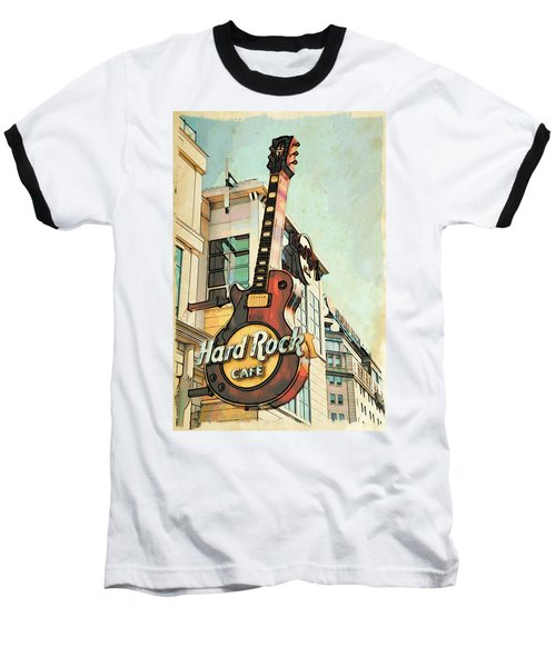Hard Rock Guitar Baseball T-Shirt