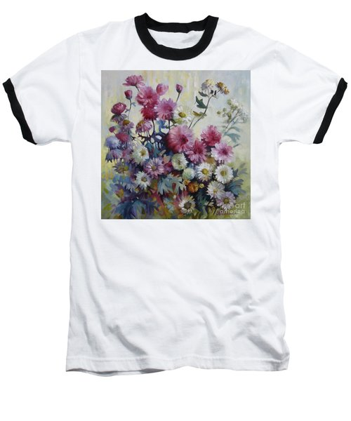 Baseball T-Shirt featuring the painting Harmonies Of Autumn by Elena Oleniuc